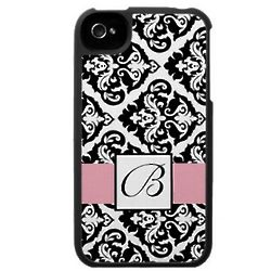 Damask iPhone Case with Monogram Initial