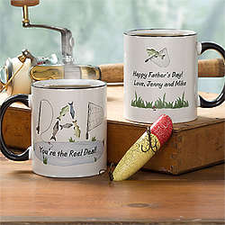 Personalized Fishing for Dad Coffee Mug