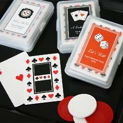 Bridal Shower Playing Cards ith Personalized Label Case