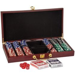 Personalized 300 Chip Rosewood Poker Set