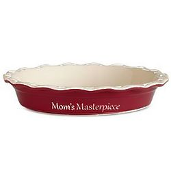 Red Personalized Pie Baking Dish