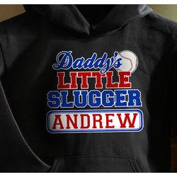 Personalized Daddy's Little Slugger Sweatshirt