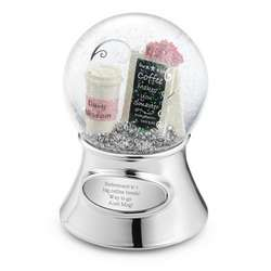 Coffee Theme Snow Globe