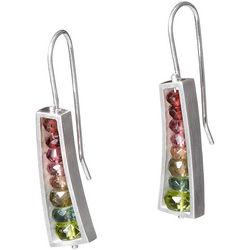 Watermelon Wedge Sterling Silver Earrings