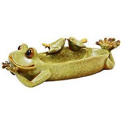 Porcelain Frog Bird Feeder