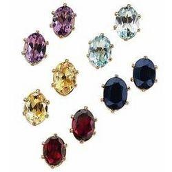 Pierced Gemstone Earrings Gift Set