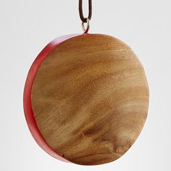 Acacia Circle Wood Ornament