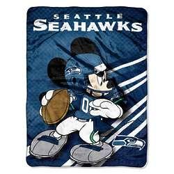 Seattle Seahawks Disney Micro Raschel Throw Blanket