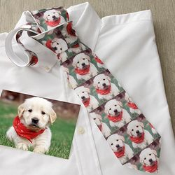 Pet Photo Collage Personalized Men's Tie