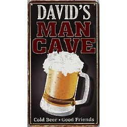 Personalized Man Cave Cold Beer Metal Sign