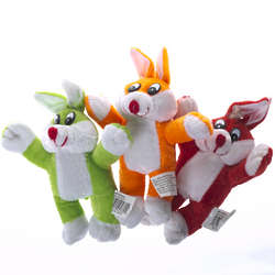 Plush Colorful Easter Bunnies