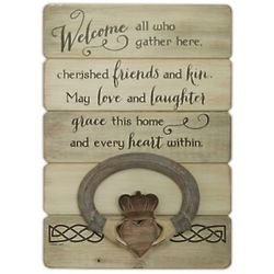 Irish Claddagh Ring Welcome Wall Plaque