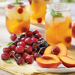 Oregold® Peaches and Dark Sweet Cherries