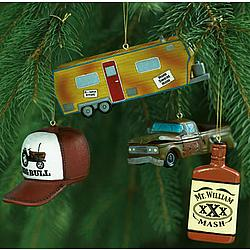 redneck christmas ornament set