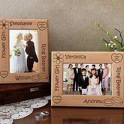 Personalized Flower Girl & Ring Bearer Wooden Picture Frame