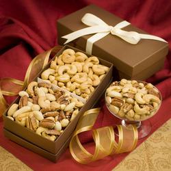 Cashew & Mixed Nut Gift Box Duo