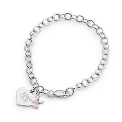 Girl's June Birthstone Angel Bracelet