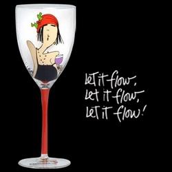 Let It Flow Wine Glass