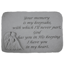 Your Memory Is My Keepsake Memorial Stone with Angel