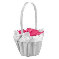 Satin Bows Flower Girl Basket