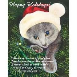 Santa Kitten Fine Art Print