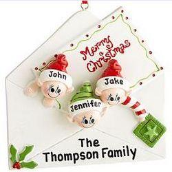 Christmas Letter Family Ornament