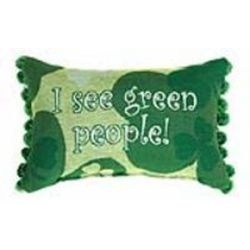 I See Green People Irish Clover Pillow