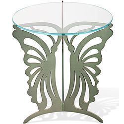 Glass Topped Butterfly Table