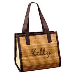 Mini Bridal Bamboo Tote Bag