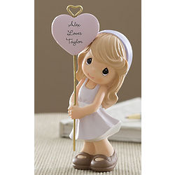 Precious Moments Personalized Girl with Heart Figurine