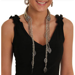 Modern Reverse Choker Necklace and Earring Set