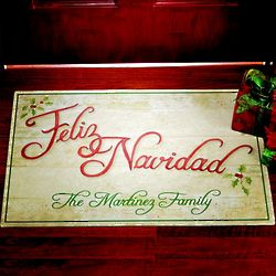 Personalized Festive Holiday Doormat