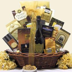 Majestic Elegance Dom Perignon Champagne Gift Basket