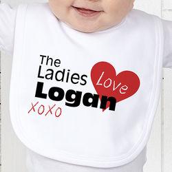 Ladies Love Me Personalized Baby Bib