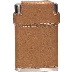 Personalized Leather Flask and Shot Cups