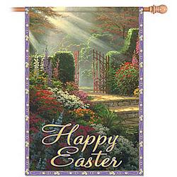 Thomas Kinkade Happy Easter Outdoor Flag
