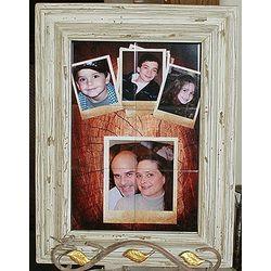 Custom Photo Tile Mural in 12x18 Driftwood Design Frame