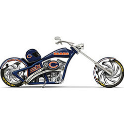 NFL Chicago Bears Motorcycle Figurine