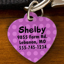 Heart-Shaped Personalized Pet ID Tag
