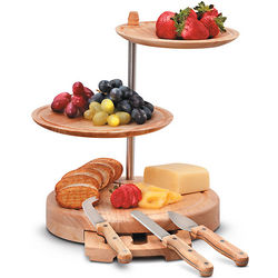 3-Tiered Cheese Board Server with Tools