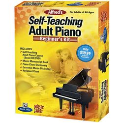 Adult's Self-Teaching Piano Beginner's Kit