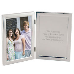 Silver Photo Frame with Engravable Plate