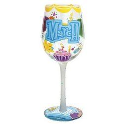 Happy March Birthday Wine Glass