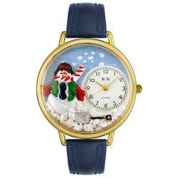 Gold Christmas Snowman Watch