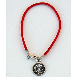 Sterling Silver Matching Amulet on Red String Bracelet