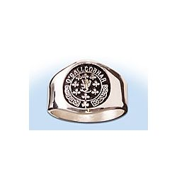 Personalized Coat of Arms Silver Ring
