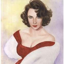 Elizabeth Taylor Watercolor Print