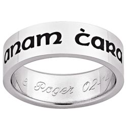 Men's Stainless Steel Engraved Anam Cara Celtic Band