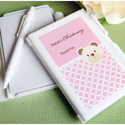 Personalized Baptism Animal Notebook