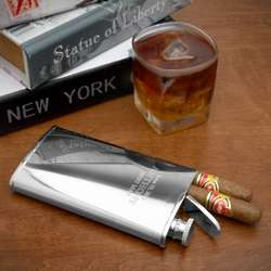 2-in-1 Flask and Cigar Holder